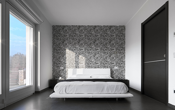 d co chambre tapisserie. Black Bedroom Furniture Sets. Home Design Ideas